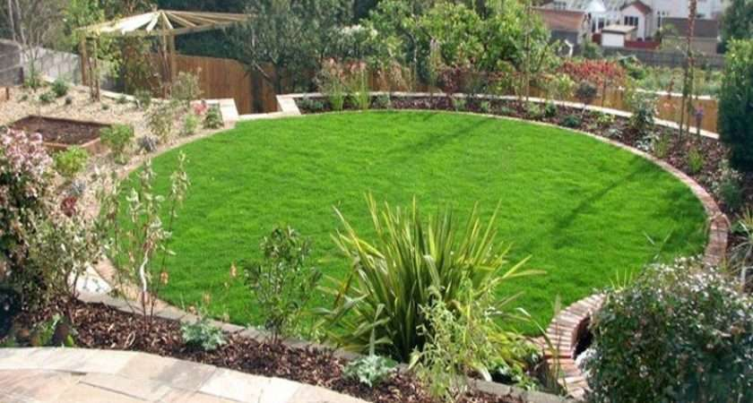 Above Part Circular Garden Design Classic Outdoor