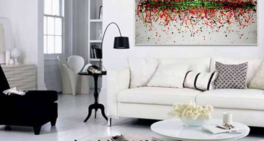 Abstract Painting Living Room Covetable