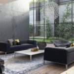Accent Wall Living Room Used Theme Gray Sofas