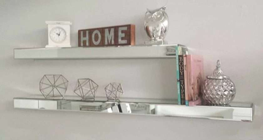Add Magical Sparkle Your Home Mirrored Floating Wall Shelves