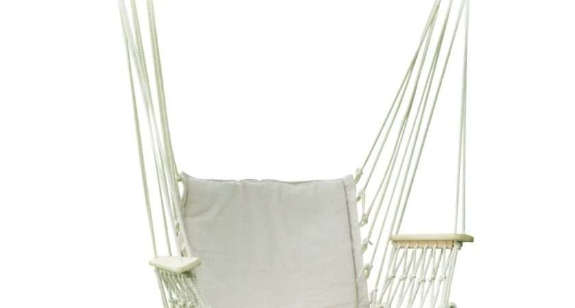 Adeco White Outdoor Hammock Chair