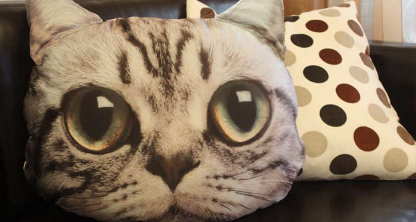 Adorable Realistic Printed Cat Cushions Carrie Siamon