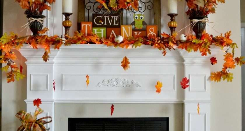 Adventures Decorating Our Fall Mantel