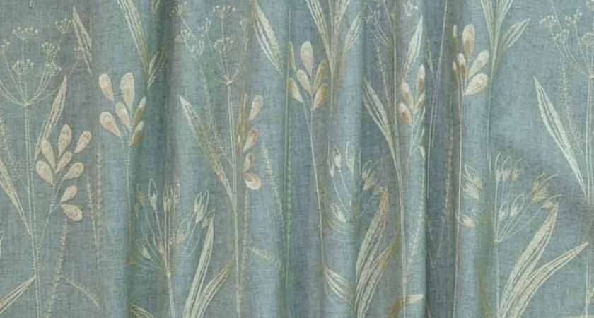 Agean Duck Egg Fabric Curtains Upholstery
