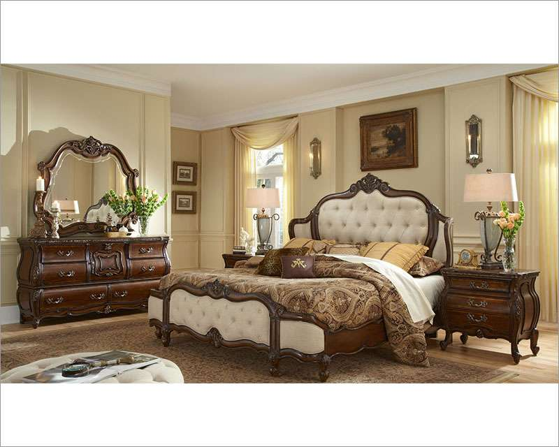Aico Bedroom Set Upholstered Headboard Lavelle Melange