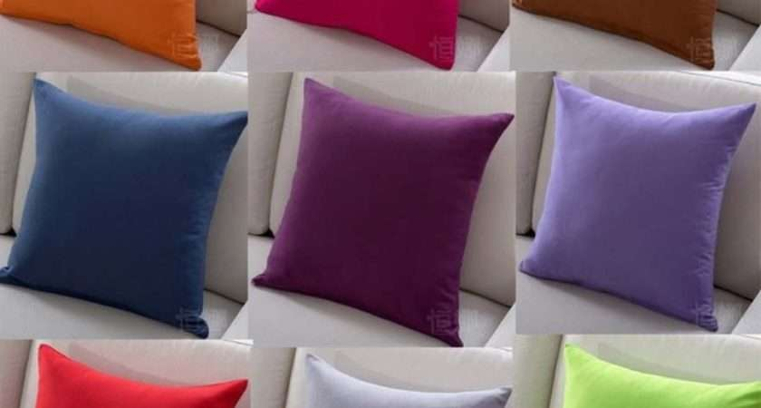 Aliexpress Buy Solid Color Sofa Cushion Covers Hot