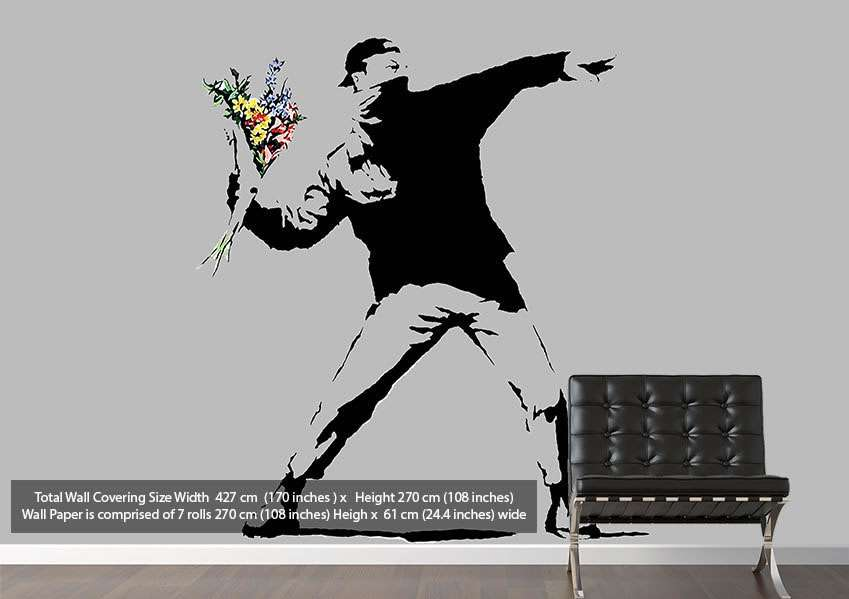 Amazing Flowers Banksy Mural Pinterest