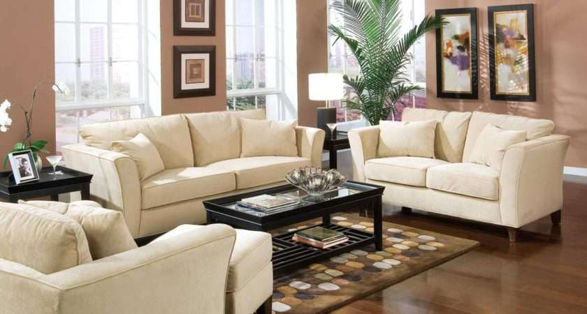 Amazing Living Room Decor Ideas Cream Sofa Completed Black