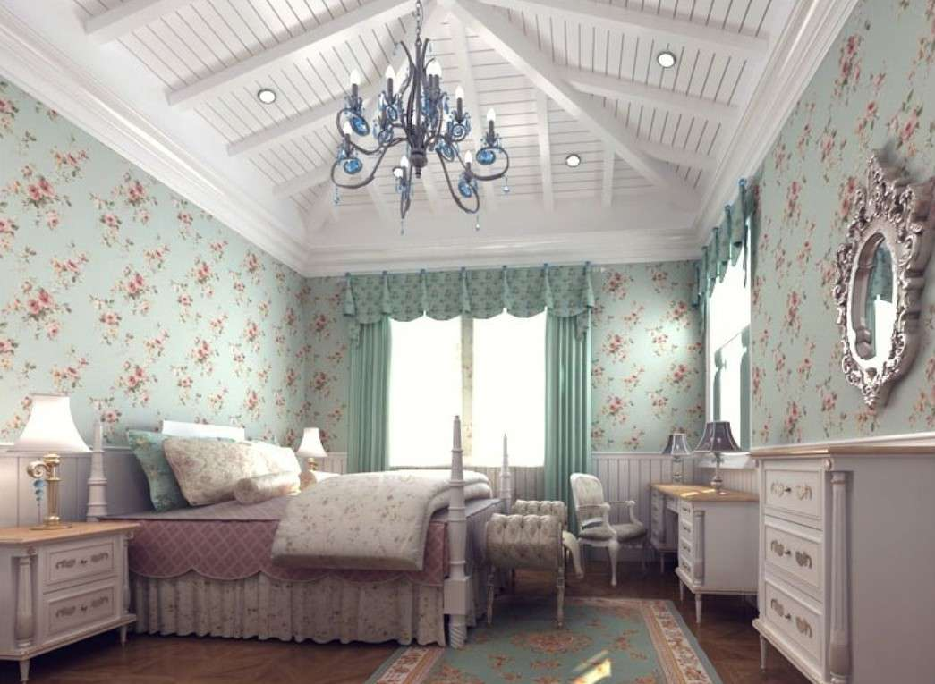 American Bedroom Decoration Pvc Floral Colorful