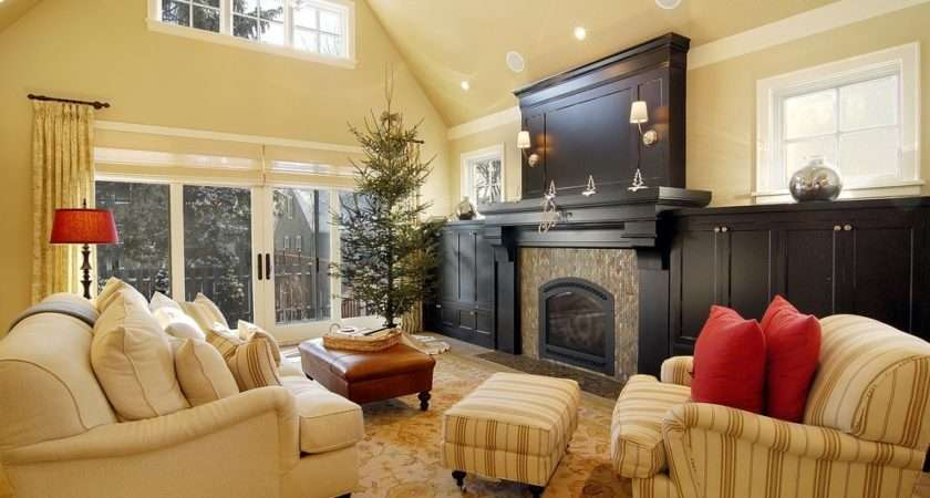 American Style Interior Fireplace Living Room Wall Decoration