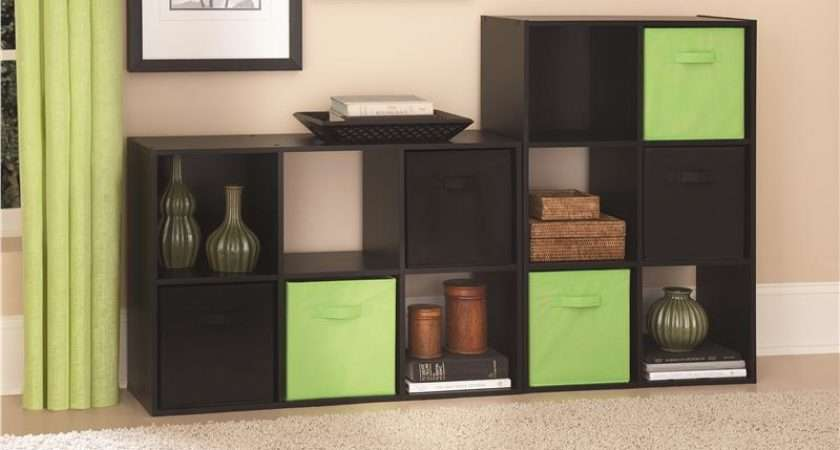 Ameriwood Furniture Cube Storage Cubby Bookshelf Black Ebony