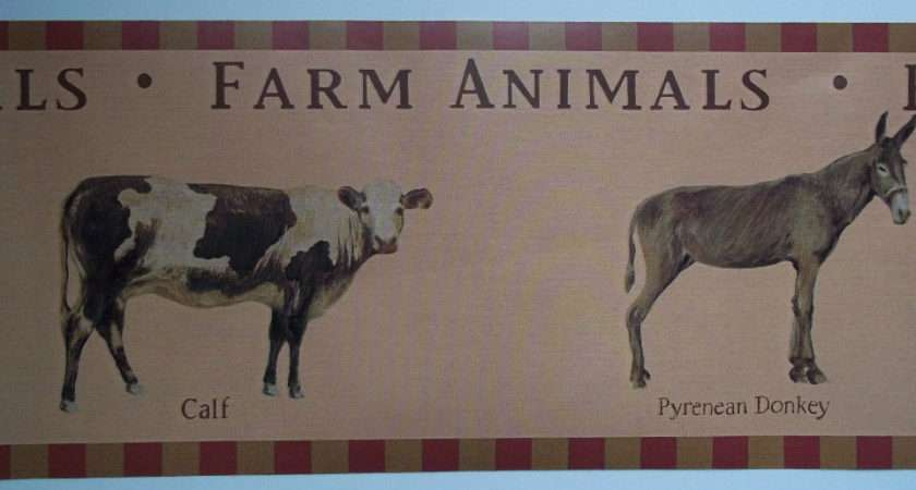 Animals Country Kitchen Laundry Border Sale