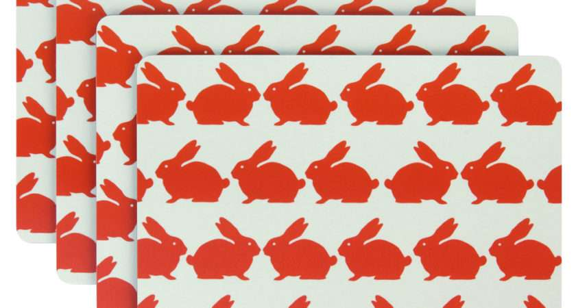 Anorak Kissing Rabbits Placemats Sale Prices Fast