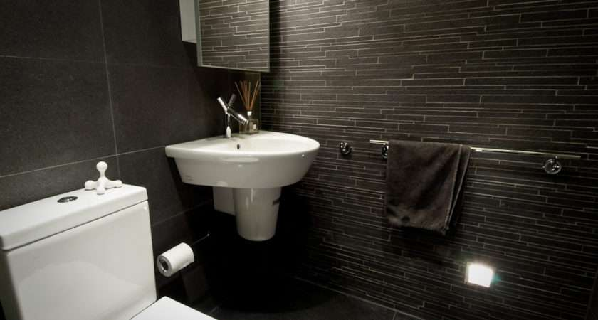 Anthracite Floor Slate Feature Tiles Grey Veined Marble Walls