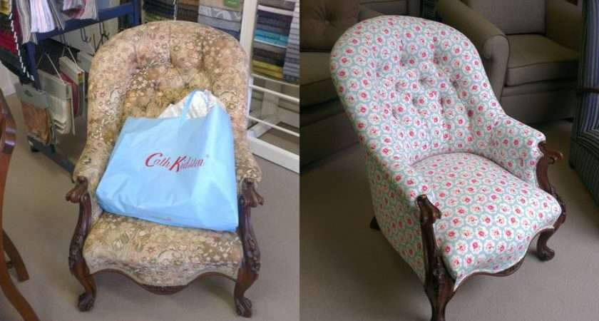 Antique Chair Covered Cath Kidston Fabric Very Cute