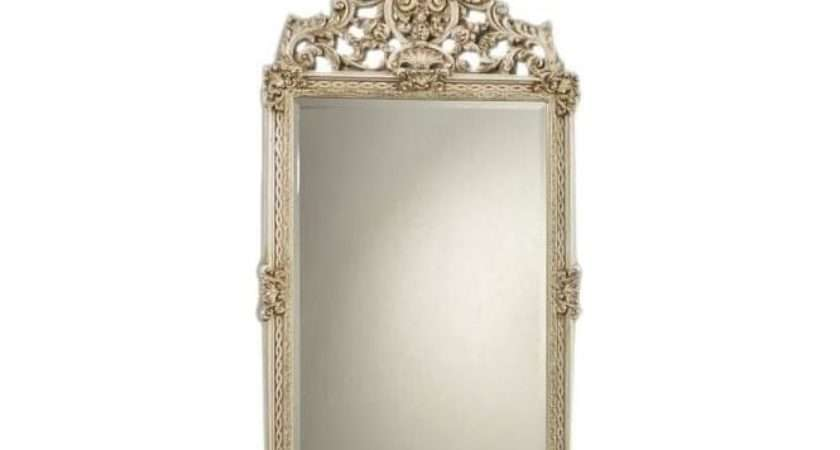 Antique French Style Ivory Mirror Mirrors