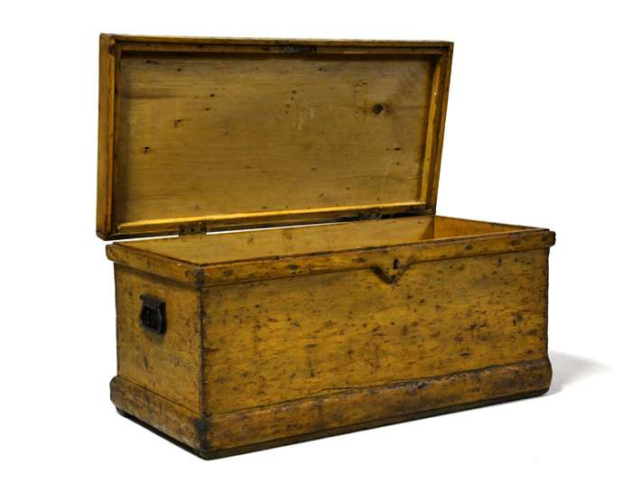 Antique Pine Blanket Box Circa Chests Trunks