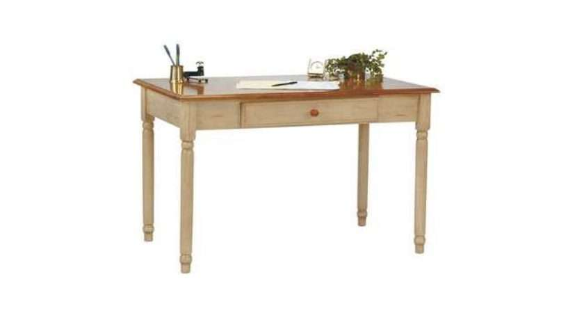 Antique White Cherry Country Cottage Office Computer Desk Newegg