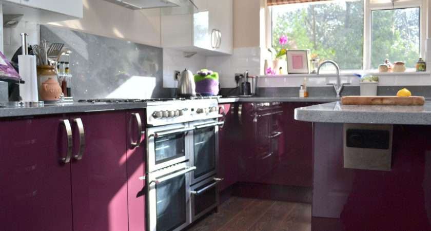 Apartment Creative Small Purple Color Covered Kitchen