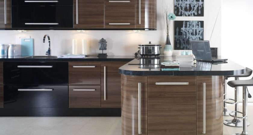 Apollo Black High Gloss Vinyl Wrapped Replacement Kitchen
