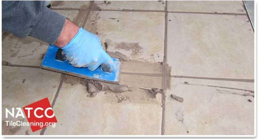 Apply Grout Tile Floor
