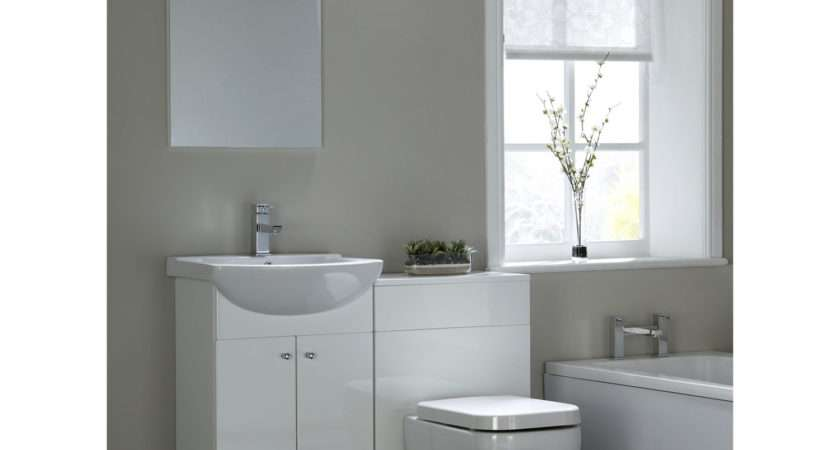 Aqualine Gloss White Bathroom Suite Next Day Delivery