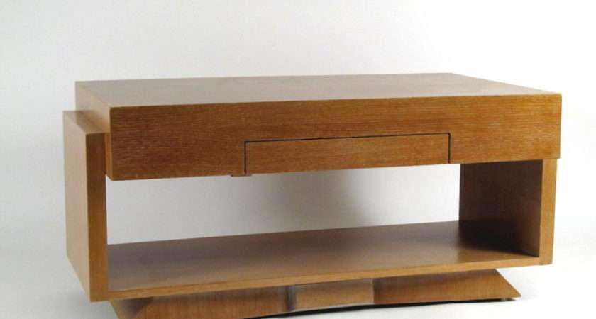 Architectural Blonde Wood Coffee Table Stdibs