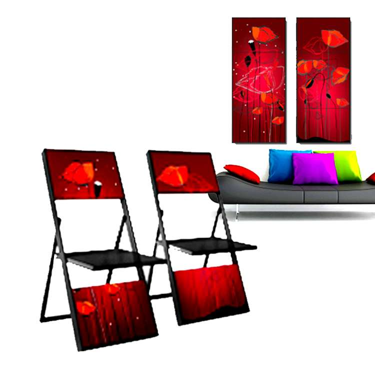 Art Chair Wall Folding Decoration