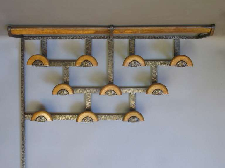 Art Deco Coat Hat Rack Matching Umbrella Stand Stdibs