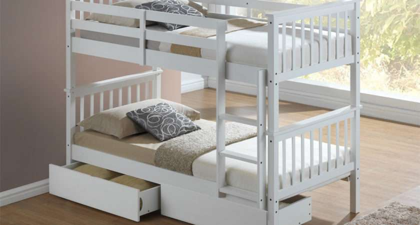 Artisan New Wooden Bunk Bed White