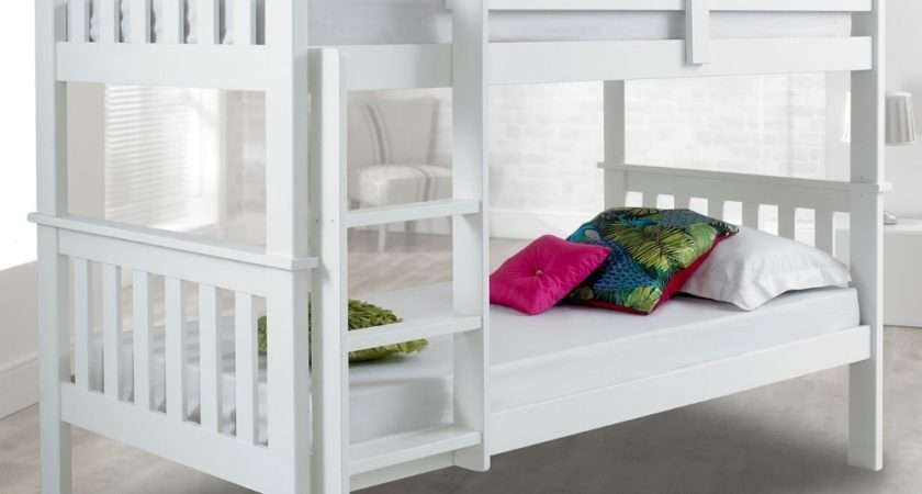 Atlantis White Finish Solid Pine Wooden Bunk Bed