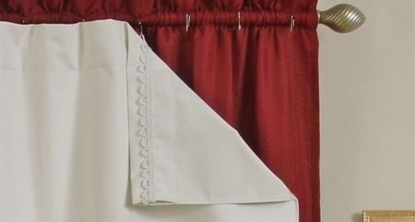 Attach Blackout Lining Pencil Pleat Curtains