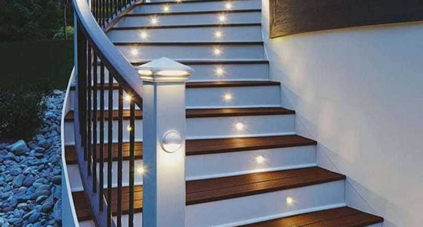 Attractive Step Lighting Ideas Outdoor Spaces