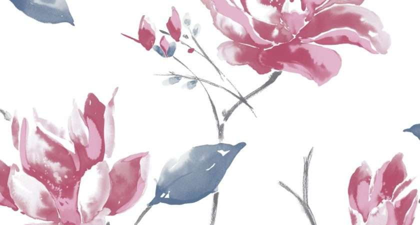 Ava Blue Pink White Floral Departments Diy