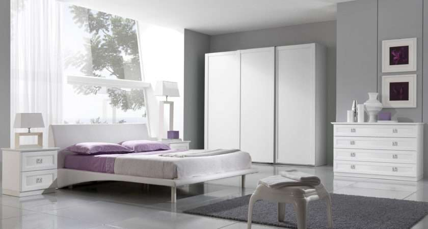 Awesome Gray Purple Bedrooms Modern Concept