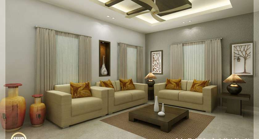 Awesome Interior Renderings Kerala Home Design