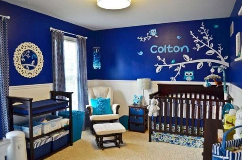Baby Boy Blue Bedroom Ideas Eblue White Nursery