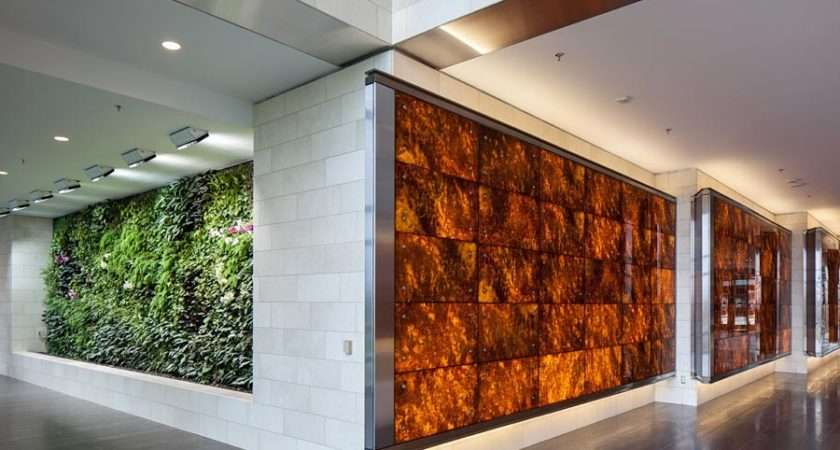 Backlit Wood Feature Walls
