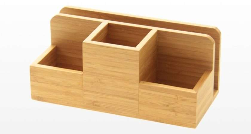 Bamboo Stationery Organiser Perfect Holding Pens Pencils