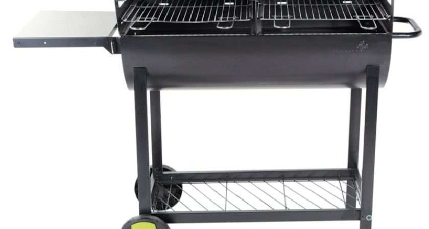 Barbecues Accessories Blooma Selwynd Half Barrel Charcoal Barbecue