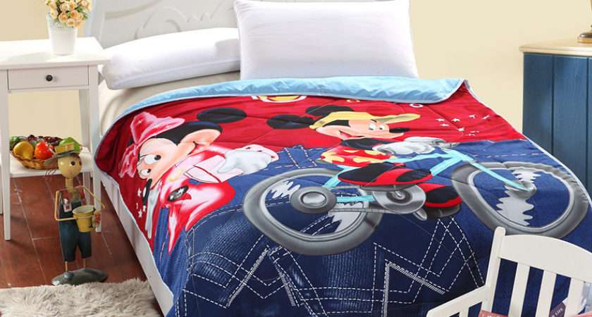 Barcelona Kids Bed Cover Summer Blankets Mickey Minnie