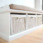 Basket White Hallway Storage Bench Dale Cloakroom