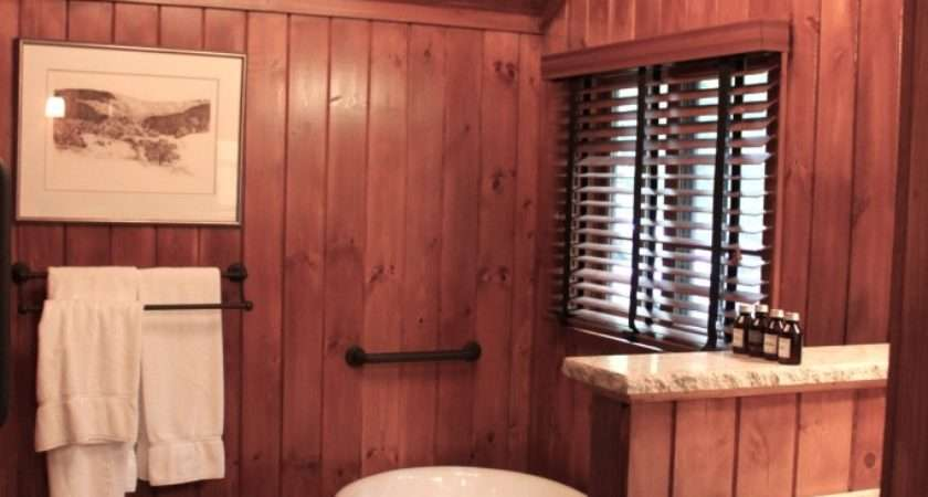 Bathroom Before After Ramble Wood Paneling