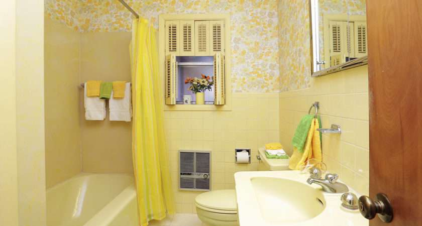Bathrooms Become Almost Monochromatic Like Pale Yellow Bathroom