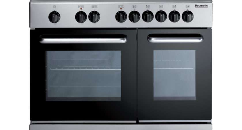 Baumatic Tcss Dual Fuel Range Cooker Stainless Steel