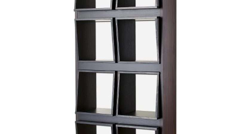 Bauster Cubby Open Bookcase Room Divider Espresso