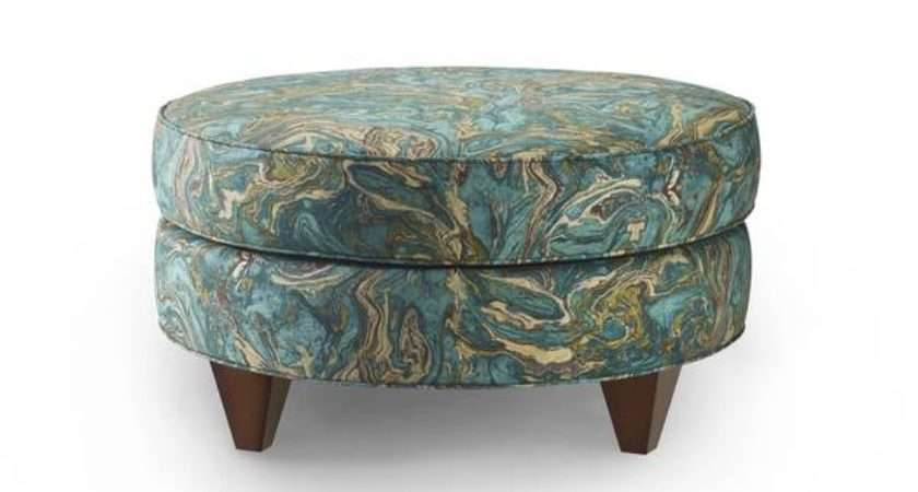 Bax Teal Cotton Upholstered Ottoman Shipping Today