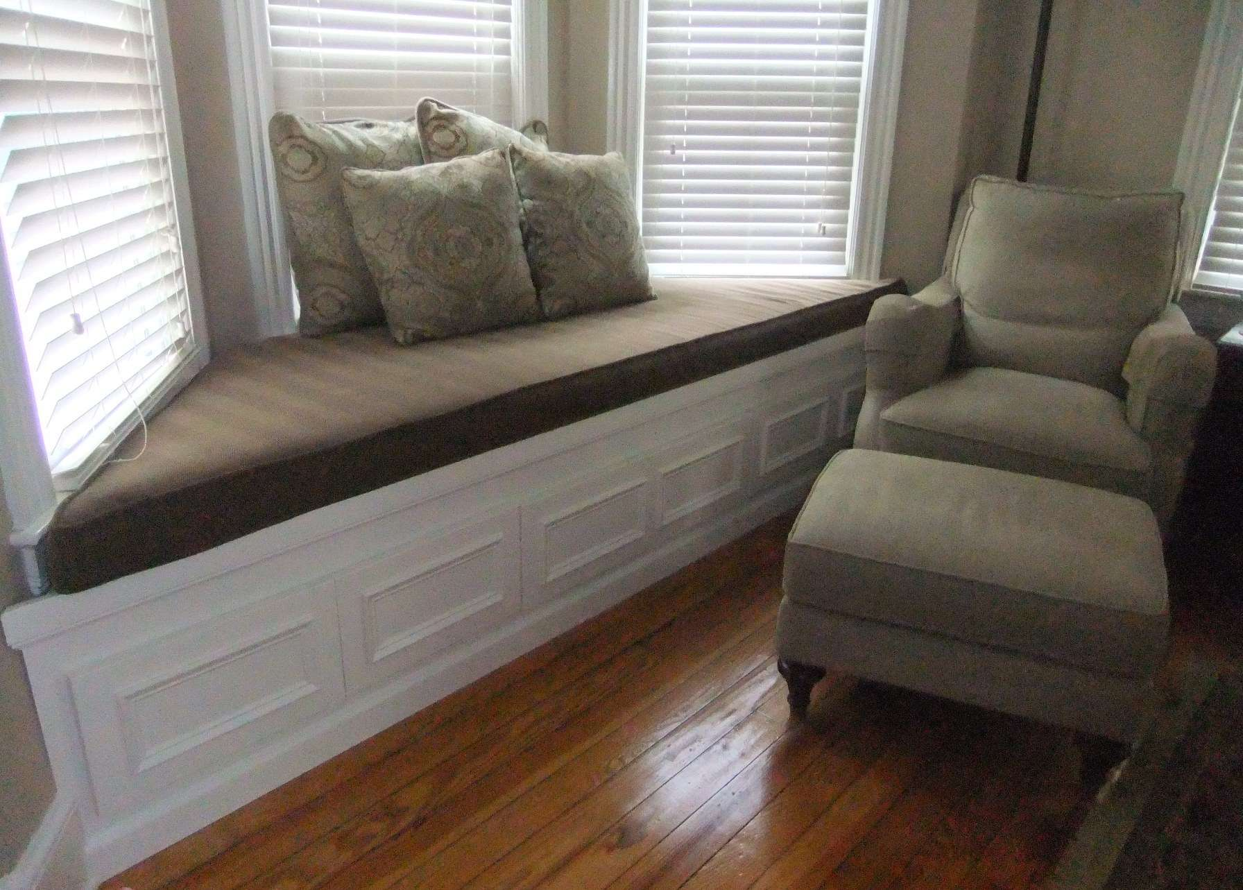 Bay Window Seat Beautiful Cushion Pillows Also Grey Sofa