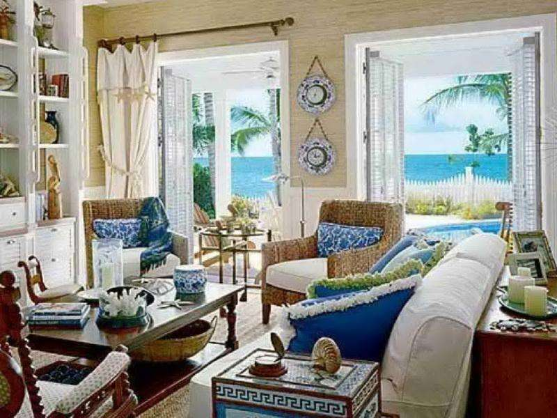 Beach Style Rooms Modern Living Room Pier