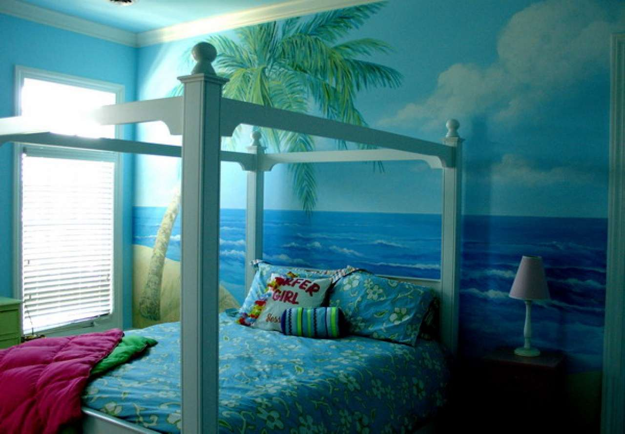 Beach Teenage Wall Murals Bedroom Design Best